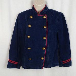 Lauren Jeans Co blazer jacket M Blue Double breast